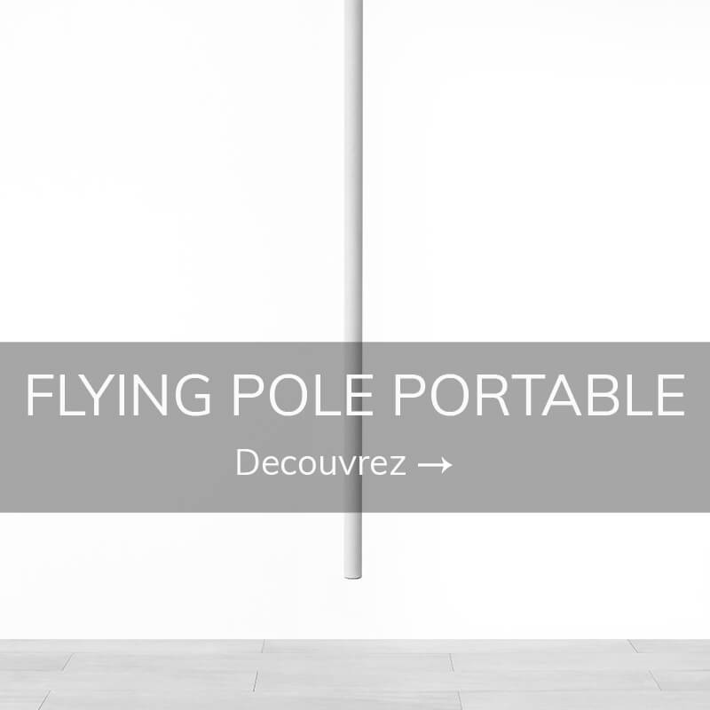 Flying pole barre volante portable