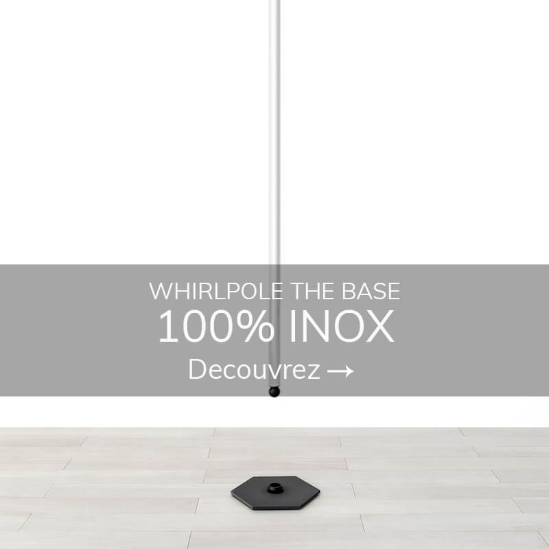 Swinging pole dance inox