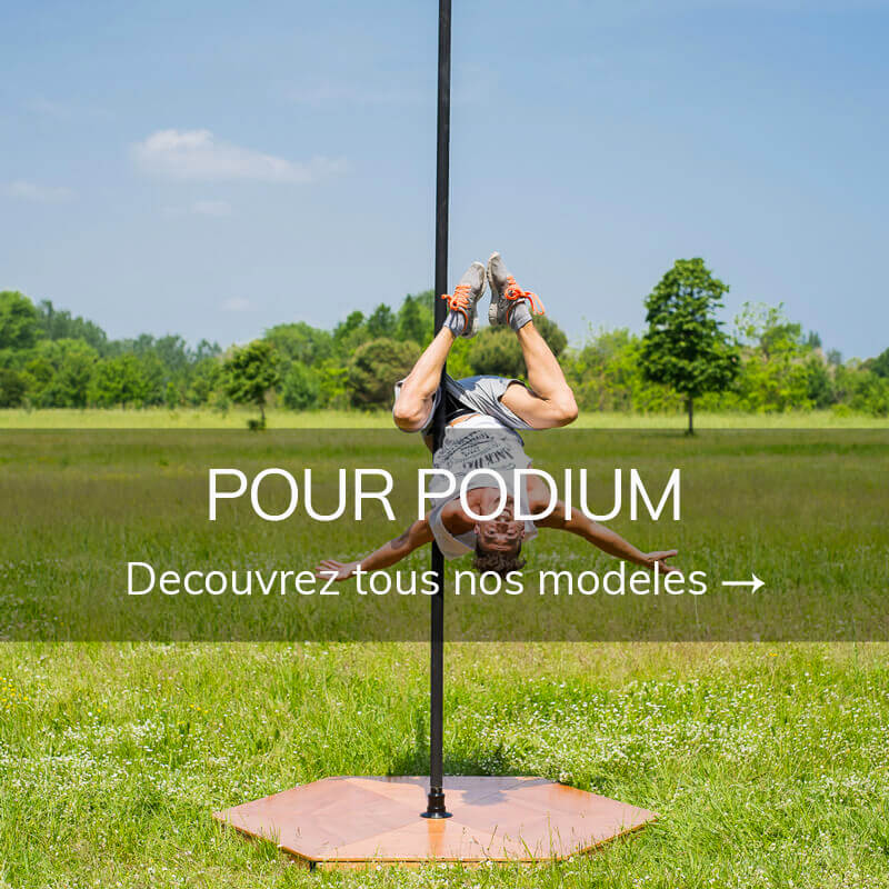 Barre pole dance pour podium
